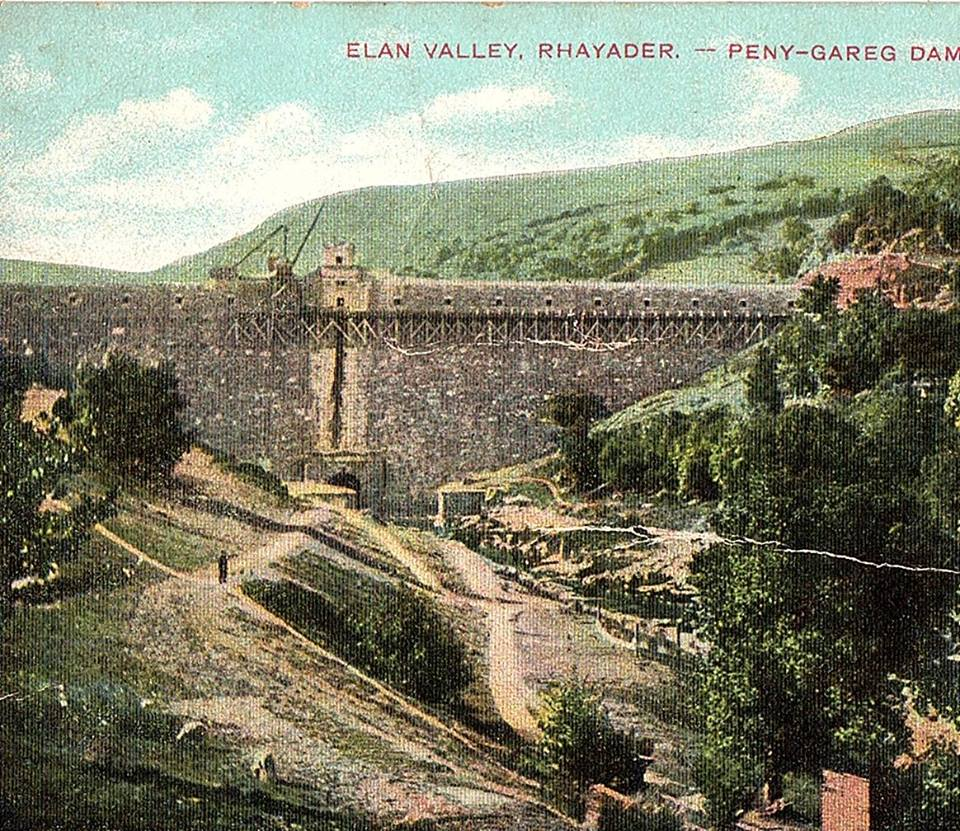 Old Postcard of Pen y Garreg Dam